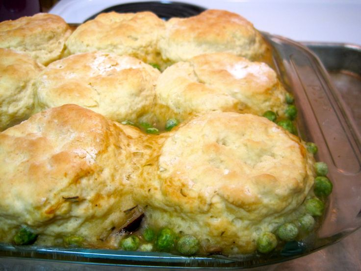 Caramelized Mushroom and Vegetable Pot Pie with Parmesan Biscuits