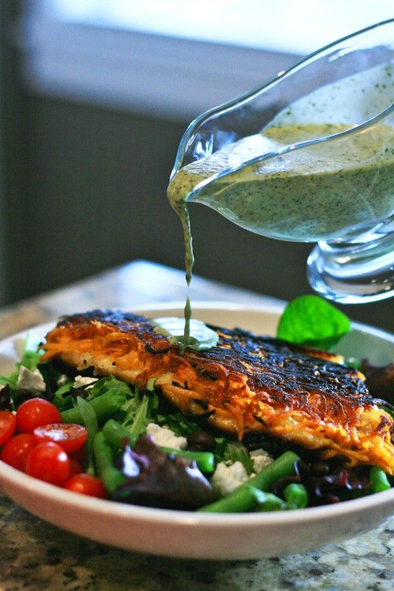 sweet potato crusted fish with cilantro lime vinagrette