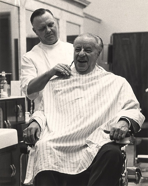 1956 - A happy customer. Old Time Barbershop Pinterest