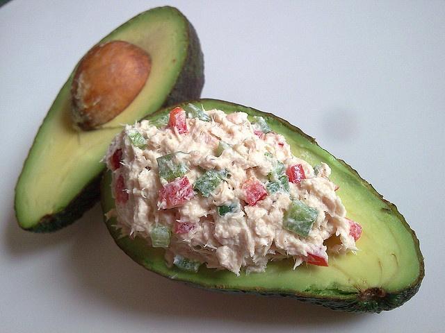 Tuna stuffed avocados | Yummy in my tummy recipes | Pinterest