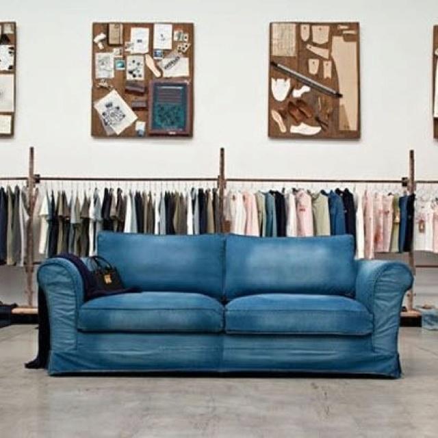 Denim Sofa Home Pinterest