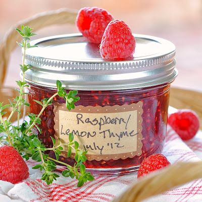 Raspberry Lemon Thyme Jam | Yum | Pinterest