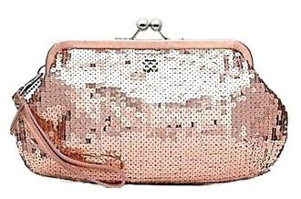 Coach Sequin Occasion Framed Clutch Evening Bag
