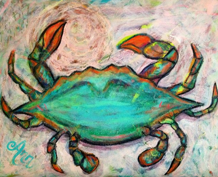 Abstract Crab Oil Paintings, Abstract Crab Oil Paintings ...