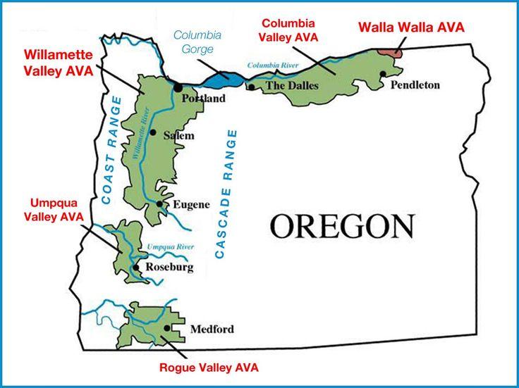 Oregon Wine Regions  Wine Country  Pinterest