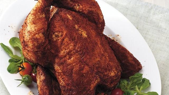 For Father's Day - Grilled Beer-Can Chicken with Spicy Chili Rub ...