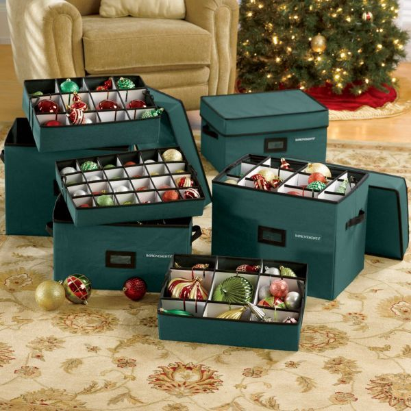 Ornament storage boxes disney pinterest for Xmas decoration storage boxes