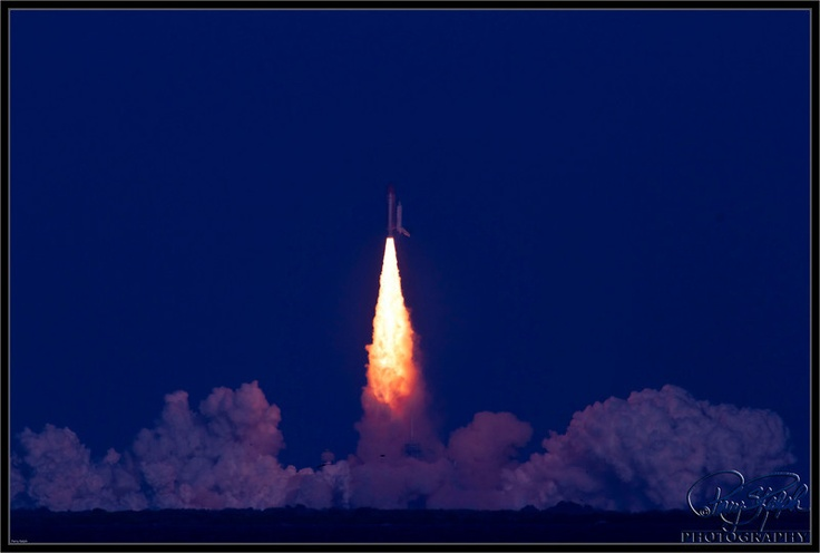 Space Shuttle -- 2nd to the last blast off