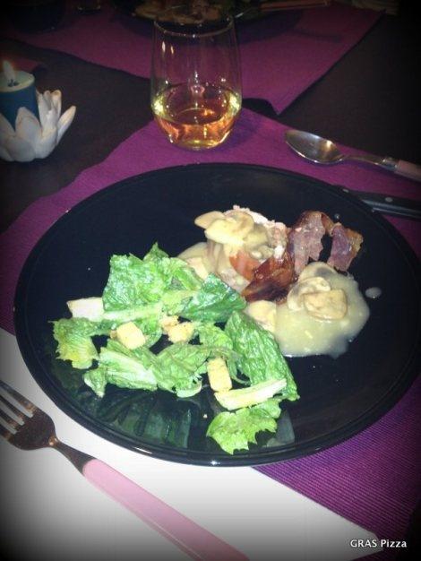 Prosciutto-Stuffed Pork Tenderloin with Mushroom Sauce