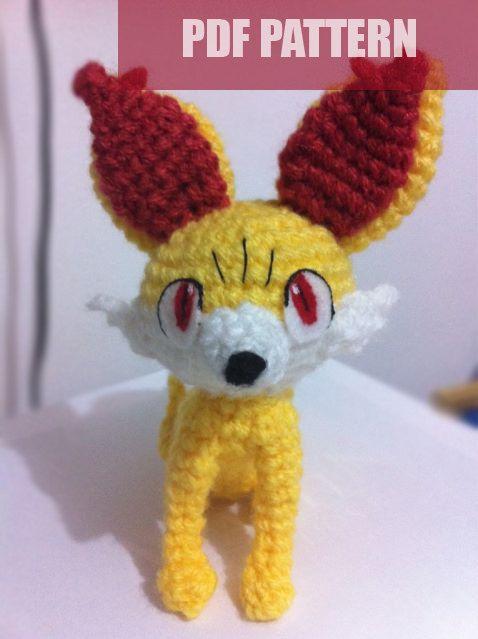 Amigurumi Free Patterns Bear : PDF CROCHET PATTERN Pokemon Fennekin Fox Amigurumi