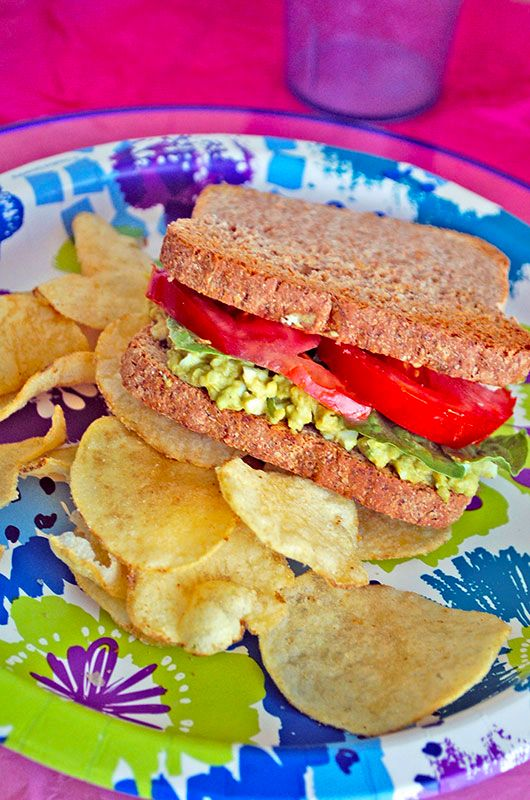 Avocado Egg Salad Sandwich - Skip the mayo and use creamy avocado ...