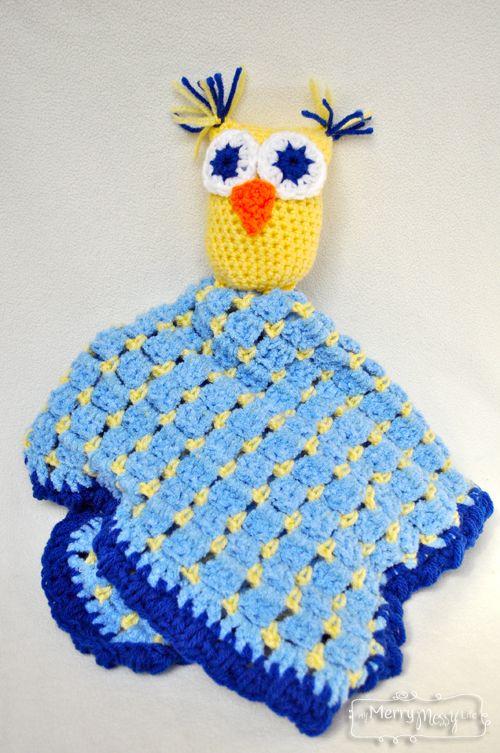 Crochet Owl Blanket Lovey ? Free Pattern Baby Lovey ...