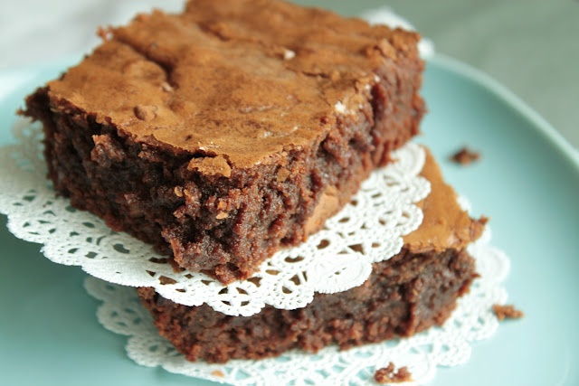 Bombshell Brownies (chocolate w/ chocolate chips - need I say more?)