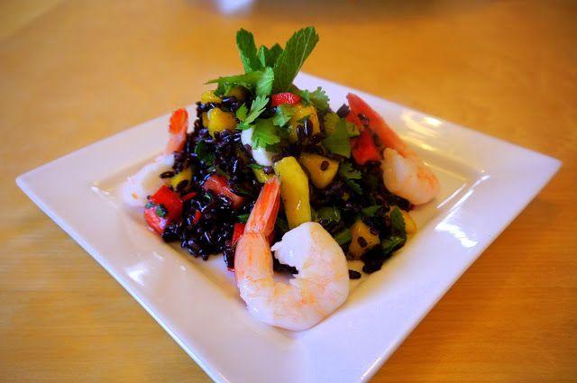 Thai mango and mint black rice salad | Food! | Pinterest