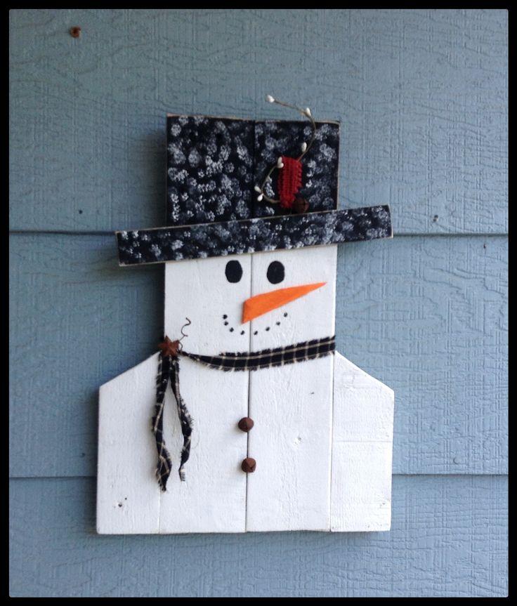 Snowman   Pallet crafts / by Freda Branson   Pinterest