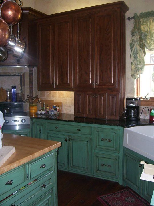 Teal cabinets  Teal  Pinterest