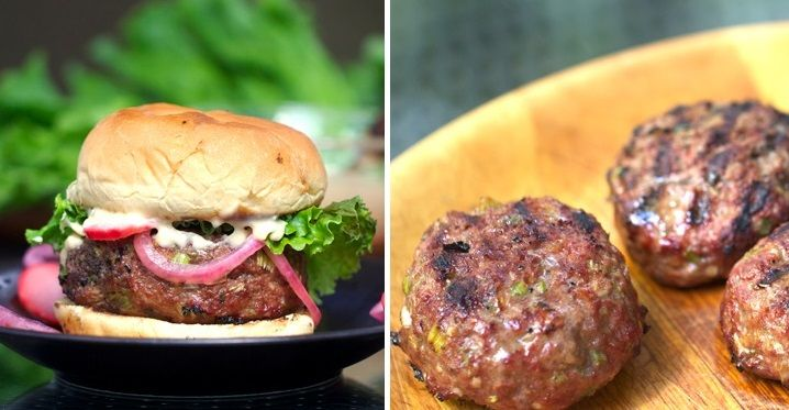Korean BBQ Burgers with Pickled Radishes, Onions, and Miso Mayonnaise ...