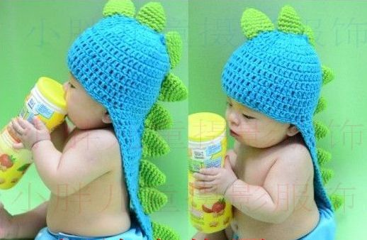 C02 Baby Infant Kid Newborn Knitted Dragon Costume Photo Prop Hat Bea?