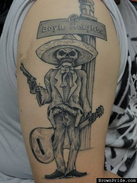 Emiliano zapata dia de los muertos tattoos bodymods for Emiliano zapata tattoo