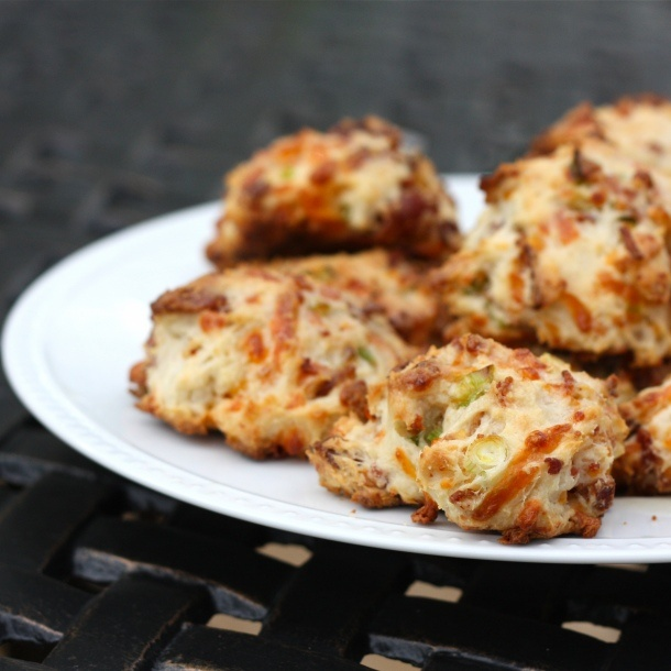 Bacon Cheddar Drop Biscuits Recipe — Dishmaps