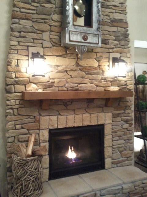 Sconces over fireplace Decorating the home Pinterest