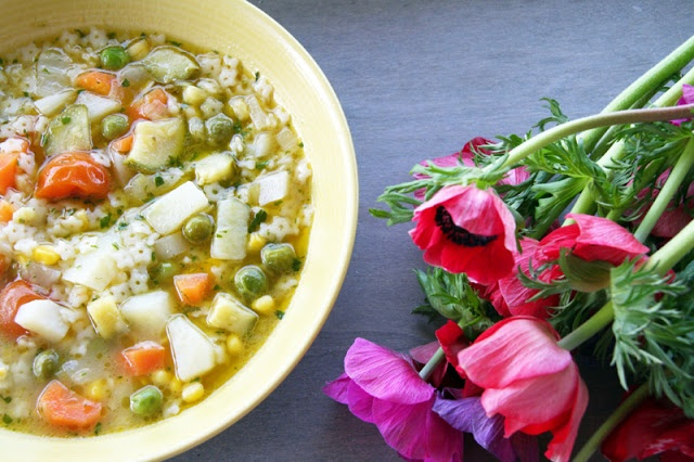 Spring minestrone soup | food/recipes | Pinterest