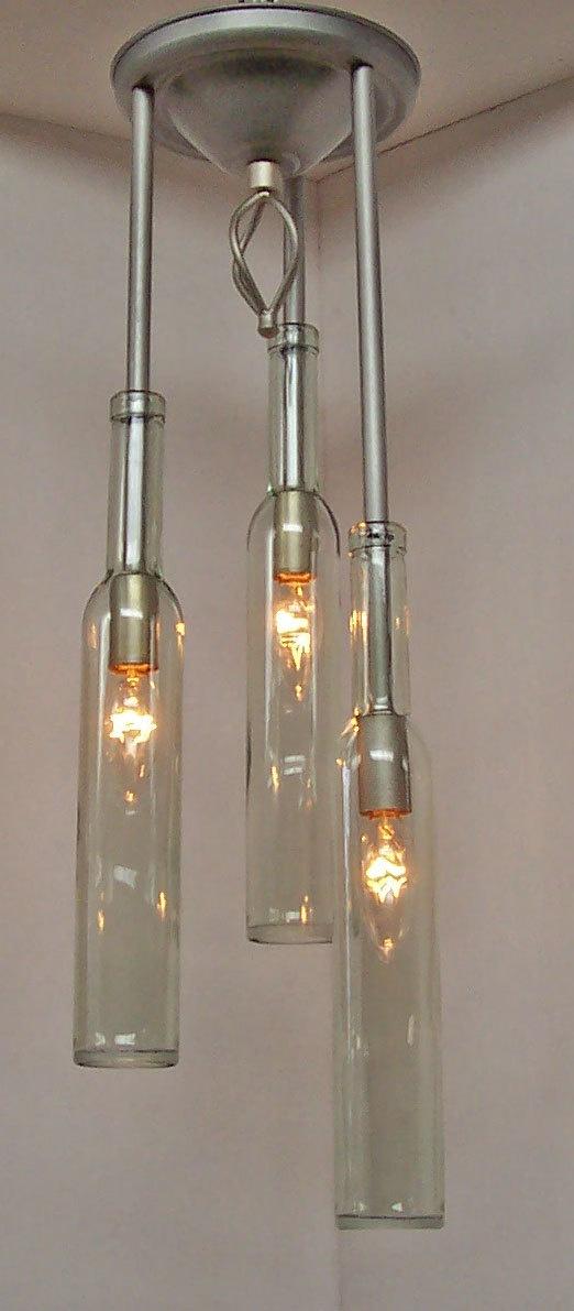 Wine Bottle Pendant Light Fixture  diy  Pinterest
