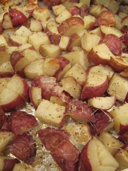 Parmesan Roasted Red Potatoes 3 pounds of size B red potatoes 1 TBS ...
