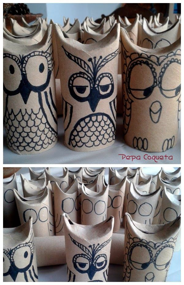 Reciclamos. Búhos a todo color!! | manualidades - craft | Pinterest