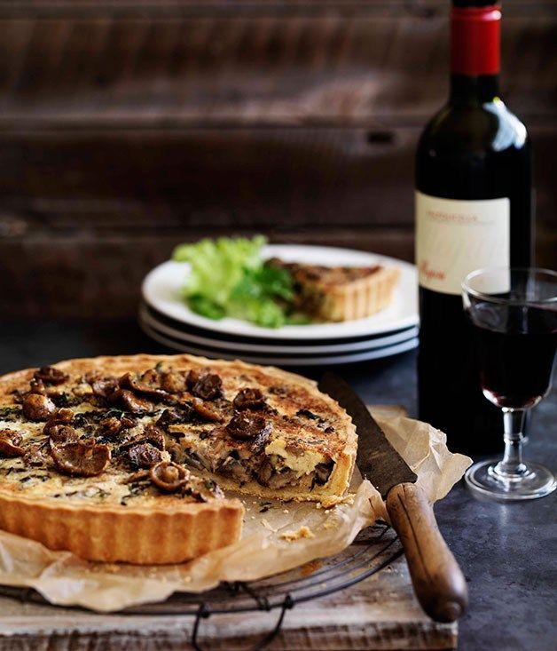 Mushroom quiche - Gourmet Traveller | bakings | Pinterest
