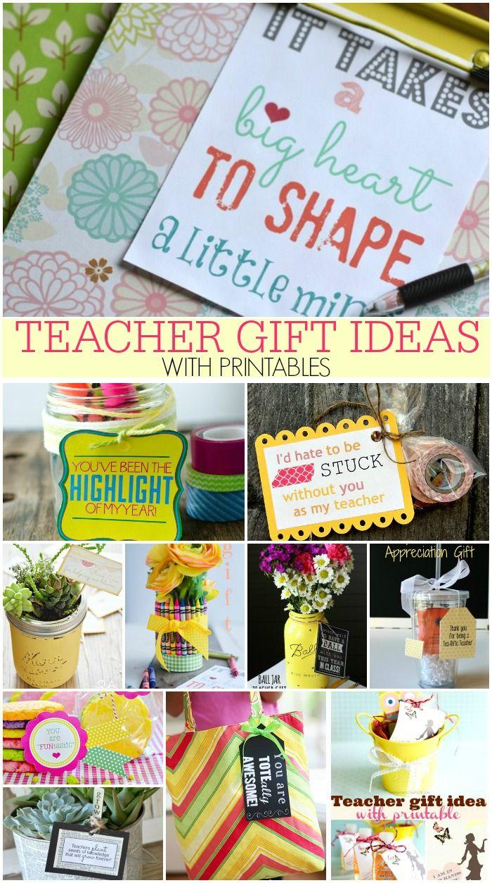 Classroom Keepsake Ideas : Teacher gift ideas with printables