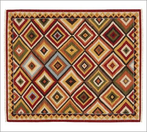 Diamond kilim rug pottery barn big plans small condo pinterest - Discontinued pottery barn rugs ...