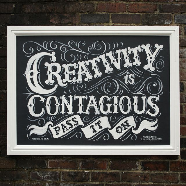 Hand lettered sign by alexandra snowdon neat signs
