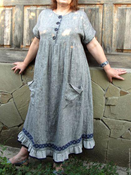 Платье из льна своим руками 26