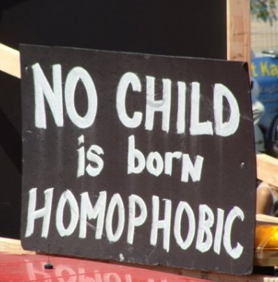 homophobia can only be taught!