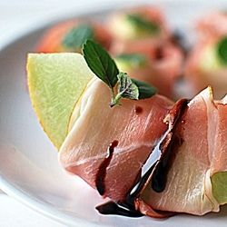 Melon wrapped in Parma Ham | Finger Food | Pinterest
