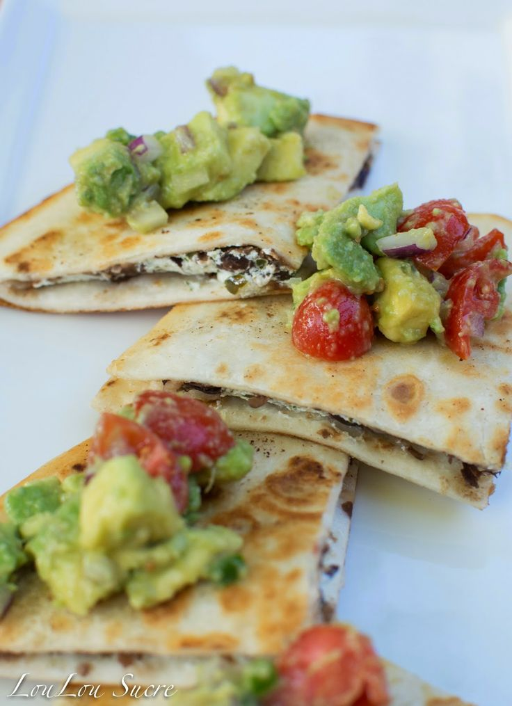 Black Bean and Goat Cheese Quesadillas with Chimichurri