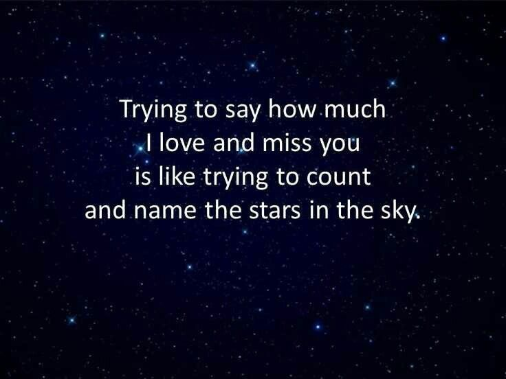 count and name the stars in the sky my love for him