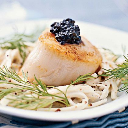 Scallops with Celery Root Salad | Seafood | Pinterest