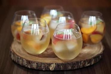 ... nectarines, apricots, plums) to keep the sangria cool without watering