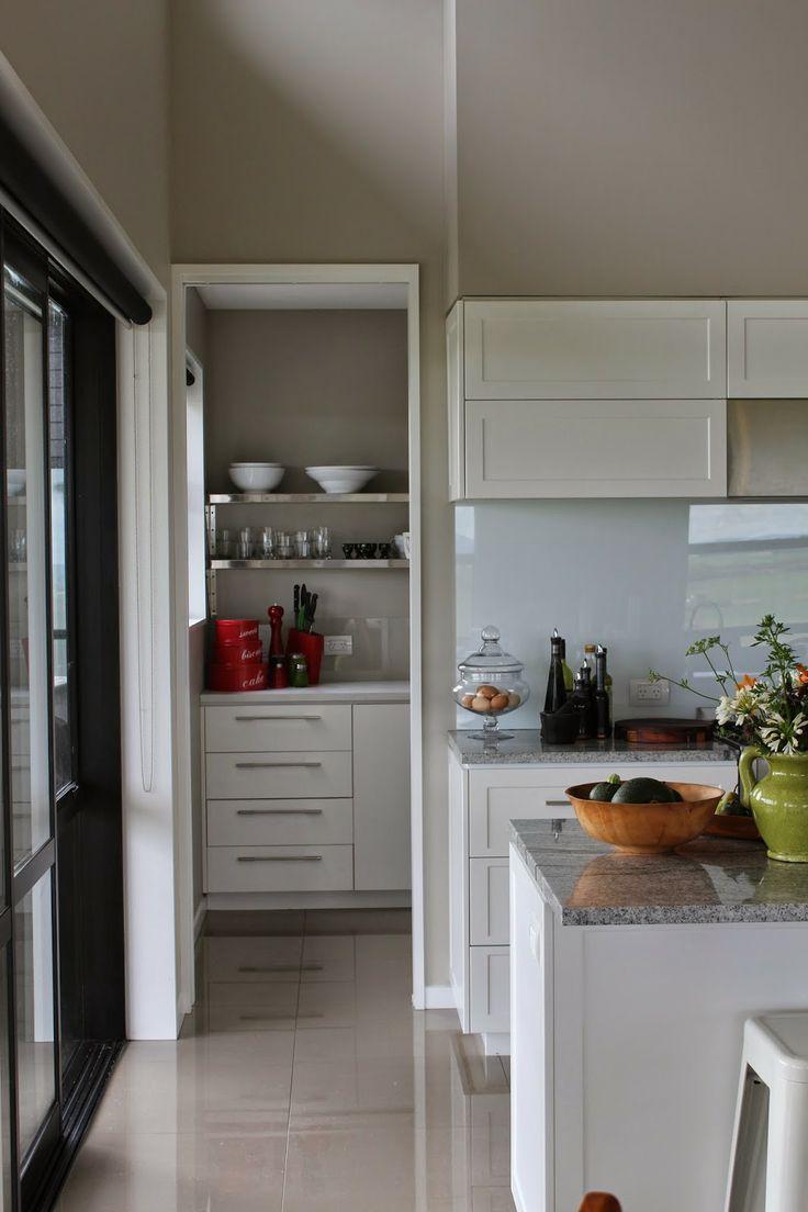 White kitchen grey wood white kitchens pinterest - White kitchens pinterest ...