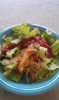 Spaghetti Squash Taco Salad | Vegetarian Recipes | Pinterest