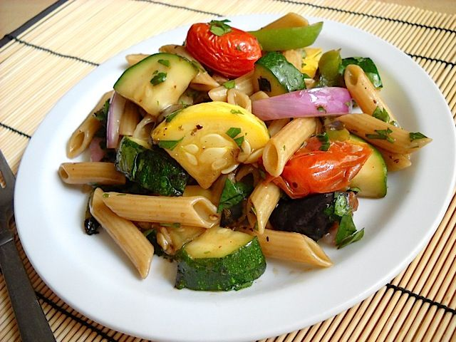 Grilled vegetable pasta salad | Recipe