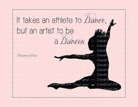 digital file ballet dance inspirational quotes