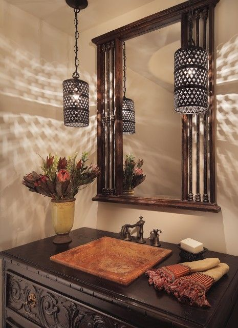 spanish powder room bathrooms pinterest