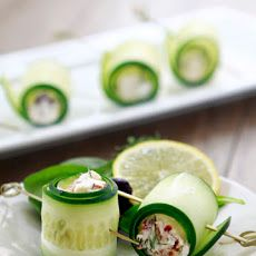 Cucumber Feta Rolls Recipe | Drink and Food | Pinterest