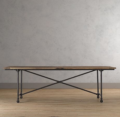 restoration hardware trestle table tables pinterest