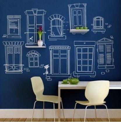 Chalkboard paint ideas deco pinterest for Chalkboard paint ideas