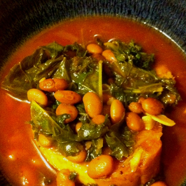 Cannellini Bean Soup with Kale and Garlic-Olive Oil Crostini | Recipe