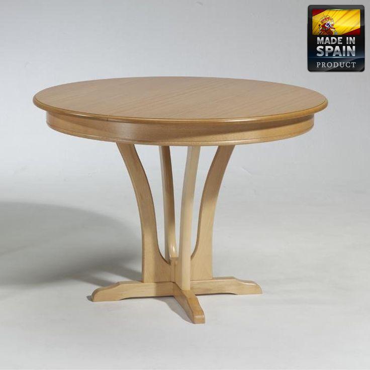 Mesa de comedor extensible pata central mesa de comedor de for Mesa comedor pata central